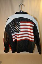 Peter England USA United States of American Flag Jacket Men's Size XL