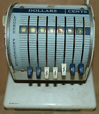 """Paymaster X-900 Check Embossing Writer Patented in Canada 1962 9 5/8""""T x 7 1/2""""W"""