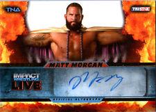 TNA Matt Morgan 2013 Impact Wrestling LIVE GOLD Autograph Card SN 54 of 99