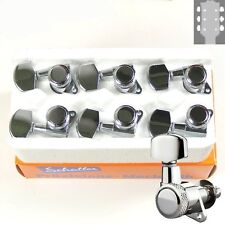 Schaller M6 Rear Locking tuners/machine heads, 3x3 Chrome, 10060223