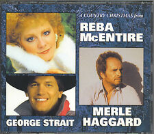 A COUNTRY CHRISTMAS - REBA MCENTIRE-GEORGE STRAIT-MERLE HAGGARD - MINT 3 CD BOX