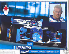 Paul Tracy 2002 Team Players.ca racing promotional picture signature card #3
