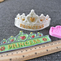 DIY Silicone Mould Fondant Cake Chocolate Sugar Craft Gum Decor Crown Princess