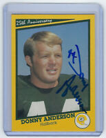 PACKERS Donny Anderson signed SB I card AUTO Autographed Super Bowl I Green Bay