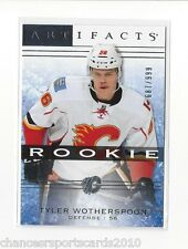 2014-15 UD ARTIFACTS TYLER WOTHERSPOON ROOKIE #d 687/999 CALGARY FLAMES