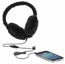 KitSound Audio Earmuffs Headphones Black Chunky Cable Knit Mp3 iPod iPhone