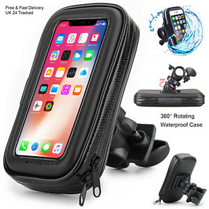 For Apple iPhone 13/12/11/X 360° Bike Bicycle Phone Holder Handlebar Mount Case