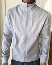 Lululemon Men Size S Sojourn Jacket Gray SESL Full Zip Sweatshirt Run Yoga NWT