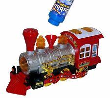 Seifenblasen Maschine Spielzeug Eisenbahn Zug Lok Train Lokomotive Licht & Sound