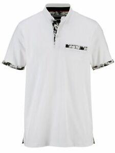 Babista Poloshirt mit modischem Stehkragen in weiß, Gr. 60