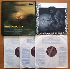SET 382/4 WBg Wagner Das Rheingold London Flagstad Solti 3xLP Decca ED2 WB EX/EX