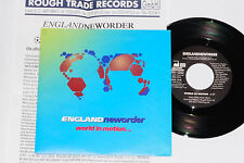 """NEW ORDER -World In Motion...- 7"""" 45 mit Product Facts Promo-Flyer"""