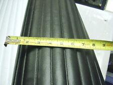 "1""Vinyl Pleats Black Automotive/Marine Upholstery Material heat sealed 5yards"