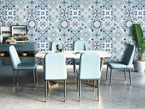 Blue Flower Contact Paper Peel and Stick Wallpaper Removable Self Adhesive Tile