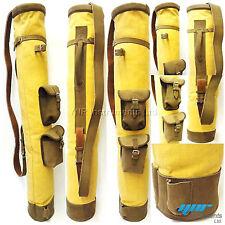 marroncino pelle bovina tela mazza da GOLF PALLA Borsa due tasche h-86.4cm