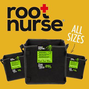 ROOT NURSE SQUARE Fabric Plant Pot Breathable Pots Hydroponics Grow Bag