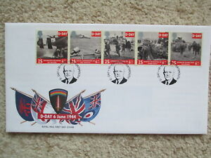 1994 D-DAY GPO COVER, D-DAY + 50 (EISENHOWER) SPECIAL H/S