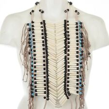 Apache Style  White Buffalo Bone Turquoise Breastplate