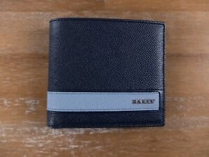 BALLY of Switzerland Lollten blue leather bifold wallet authentic - NWT
