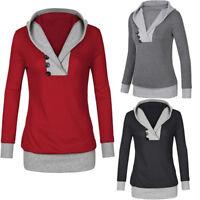 Womens Winter Long Sleeve Hoodie Sweatshirt Sweater Casual Hooded Coat Pullover