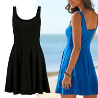 schönes mini Kleid Stretch SCHWARZ Gr.34/36 Sommerkleid Jersey Strandkleid