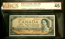 1954 Canada $50 BCS EF 45 Devil's Face Changeover Minor Stain BC-34b #6790