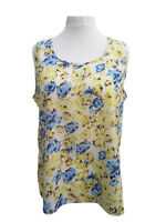 Womens Ladies Tops Silky Floral Summer Vests Sizes 18/20-22/24-26/28-30/32-34/36