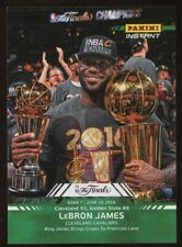 2016 Panini Instant The Finals Green LeBron James Cleveland Cavaliers 21/25