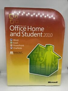 Microsoft Office 2010 Home Student 3-User Word Excel PowerPoint for Windows 10