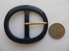 1960s Vintage Med Oval MOD Navy Blue Ladies Belt Buckle-6cm