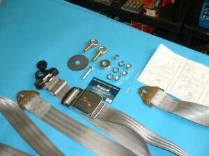 Jaguar E-Type 2+2/FHC/ MK2 3 Point Front  Seat Belt Kit Jaguar Chrome Buckle