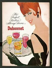 """1965 """"The Perfect Hostess Always Serves Dubonnet"""" Cocktail Booklet with recipes"""