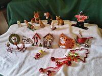 christmas ornaments mixed set vintage