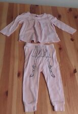 Baby GAP Ballerina Outfit 12 - 18 Month Toddler Pants & Shirt Pink Cotton Ballet