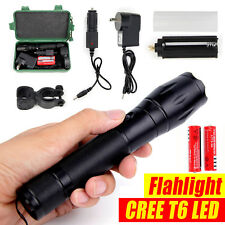 5000LM XM-L T6 LED Rechargeable X800 Tactical Flashlight Zoomable Military Torch