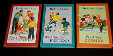 Lot 3 Dick and Jane Readers Grosset & Dunlap  Pretend Family Outside  Hardcover