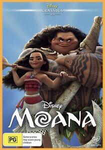 MOANA Disney Cartoon Australian Region 4 DVD BRAND NEW Sealed FREE SHIPPING