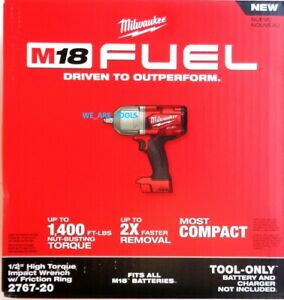 """2767-20 Milwaukee NEW IN BOX FUEL M18 1/2"""" Cordless Brushless Impact Wrench 18V"""