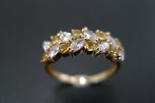 1.25 CT Marquise Cut Sim Diamond Engagement Wedding Ring 14K Yellow Gold