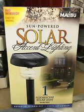 LAST SET!! (4) Malibu Solar Sensor LED Garden Outdoor Path Yard Landscape Light