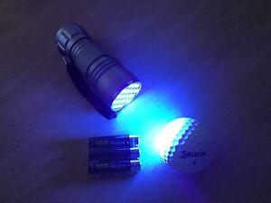Golf Ball Finder  UV Torch -  21 Leds - FREE BATTERIES