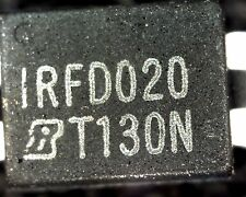 pack of 10 x IRFD020 N channel; MOSFET 4 pin DIL