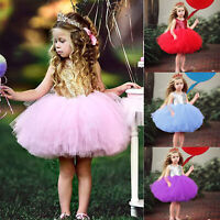 Kids Baby Flower Girl Dress Sequin Party Wedding Bridesmaid Pageant Tutu Dresses
