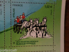 FRANCE 2014, timbre CHEVAL, HORSE, JEUX, ATTELAGE, neuf**, VF MNH STAMP