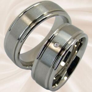 Diamantringe Trauringe Hochzeitsringe Verlobungsringe Eheringe 8 mm mit Gravur