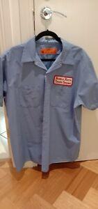 Retro Work Shirt - Pre Owned - Size XL - Light Blue