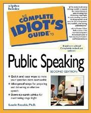 The Complete Idiot's Guide to Public Speaking (2nd Edition)-ExLibrary