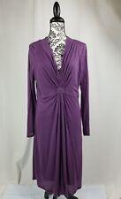 Boden women's size xl stretch knit long sleeve gathered front dress bb14