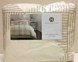 HOTEL COLLECTION, King Comforter Cover, DIAMOND EMBROIDERY, NWT