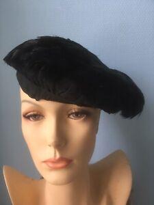 ancien chapeau pour dame béret à plume